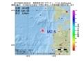 地震震源マップ:2017年06月20日 08時58分 青森県西方沖 M2.5