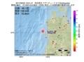 地震震源マップ:2017年06月20日 19時01分 秋田県沖 M2.7