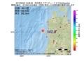 地震震源マップ:2017年06月20日 19時08分 秋田県沖 M2.7