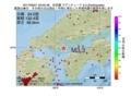 地震震源マップ:2017年06月21日 05時05分 安芸灘 M3.3
