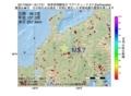 地震震源マップ:2017年06月21日 19時17分 岐阜県飛騨地方 M3.7