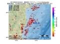 地震震源マップ:2017年06月22日 03時35分 福島県沖 M3.4