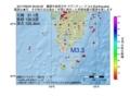 地震震源マップ:2017年06月22日 09時00分 薩摩半島西方沖 M3.3