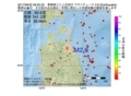 地震震源マップ:2017年06月22日 09時25分 青森県三八上北地方 M2.6