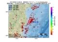 地震震源マップ:2017年06月22日 15時36分 福島県沖 M4.0