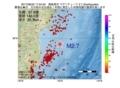 地震震源マップ:2017年06月22日 17時54分 福島県沖 M2.7