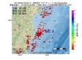 地震震源マップ:2017年06月22日 23時22分 福島県沖 M2.8
