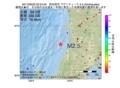 地震震源マップ:2017年06月23日 05時24分 秋田県沖 M2.5