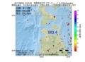 地震震源マップ:2017年06月23日 10時34分 青森県西方沖 M3.4
