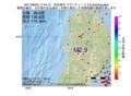 地震震源マップ:2017年06月23日 17時44分 秋田県沖 M2.9