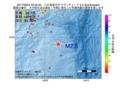 地震震源マップ:2017年06月24日 22時52分 八丈島東方沖 M2.5