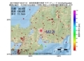 地震震源マップ:2017年06月27日 00時57分 岐阜県美濃中西部 M2.8