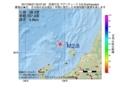 地震震源マップ:2017年06月27日 00時57分 佐渡付近 M2.8
