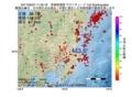 地震震源マップ:2017年06月27日 11時25分 茨城県南部 M3.6