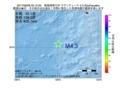 地震震源マップ:2017年06月28日 00時12分 東海道南方沖 M4.3