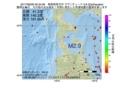 地震震源マップ:2017年06月28日 00時34分 青森県西方沖 M2.9