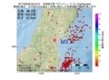地震震源マップ:2017年06月28日 00時44分 宮城県中部 M3.1