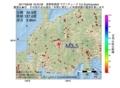 地震震源マップ:2017年06月28日 18時23分 長野県南部 M3.5