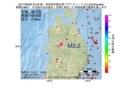 地震震源マップ:2017年06月28日 23時34分 秋田県内陸北部 M3.2