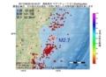 地震震源マップ:2017年06月29日 02時43分 福島県沖 M2.7