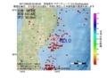 地震震源マップ:2017年06月29日 03時06分 宮城県沖 M3.0