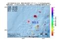 地震震源マップ:2017年06月29日 05時15分 奄美大島北西沖 M3.9