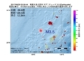 地震震源マップ:2017年06月29日 05時59分 奄美大島北西沖 M3.5