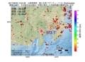 地震震源マップ:2017年06月29日 13時54分 山梨県東部・富士五湖 M3.1