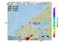 地震震源マップ:2017年06月29日 16時52分 山口県北西沖 M3.2