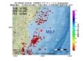 地震震源マップ:2017年06月30日 16時05分 宮城県沖 M3.1