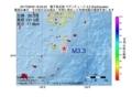 地震震源マップ:2017年06月30日 16時55分 種子島近海 M3.3