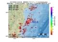 地震震源マップ:2017年06月30日 19時34分 福島県沖 M2.6