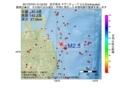 地震震源マップ:2017年07月01日 01時52分 岩手県沖 M2.5
