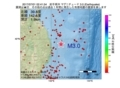 地震震源マップ:2017年07月01日 02時41分 岩手県沖 M3.0