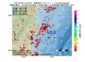 地震震源マップ:2017年07月01日 07時52分 福島県沖 M2.0