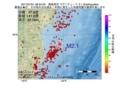 地震震源マップ:2017年07月01日 08時34分 福島県沖 M2.1