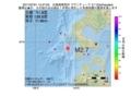 地震震源マップ:2017年07月01日 15時47分 北海道南西沖 M2.7