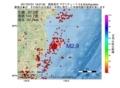 地震震源マップ:2017年07月01日 19時07分 福島県沖 M2.9