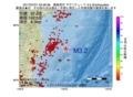地震震源マップ:2017年07月01日 23時48分 福島県沖 M3.2