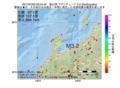 地震震源マップ:2017年07月02日 02時04分 富山湾 M3.2