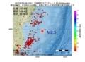 地震震源マップ:2017年07月02日 09時13分 宮城県沖 M2.5