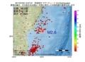 地震震源マップ:2017年07月02日 12時27分 宮城県沖 M2.6