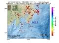 地震震源マップ:2017年07月02日 19時27分 千葉県南東沖 M2.8
