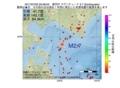地震震源マップ:2017年07月02日 20時08分 浦河沖 M2.7