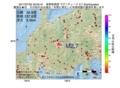 地震震源マップ:2017年07月02日 23時05分 長野県南部 M2.7