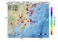 地震震源マップ:2017年07月03日 09時43分 千葉県北東部 M2.5