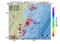 地震震源マップ:2017年07月04日 00時46分 福島県沖 M2.6