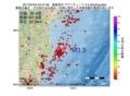 地震震源マップ:2017年07月04日 04時47分 福島県沖 M3.3