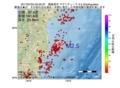 地震震源マップ:2017年07月04日 05時25分 福島県沖 M2.5