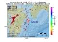 地震震源マップ:2017年07月04日 09時47分 日向灘 M2.5